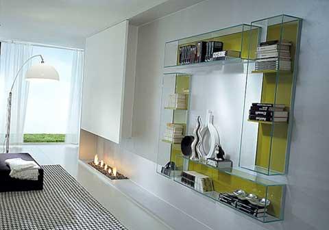 Estante De Vidro Temperado : Prateleiras de vidro em linhas limpas e elegantes vidrado