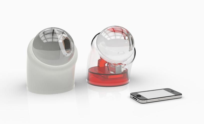 859841db8b0 Carregador solar para celular em forma de esfera de vidro