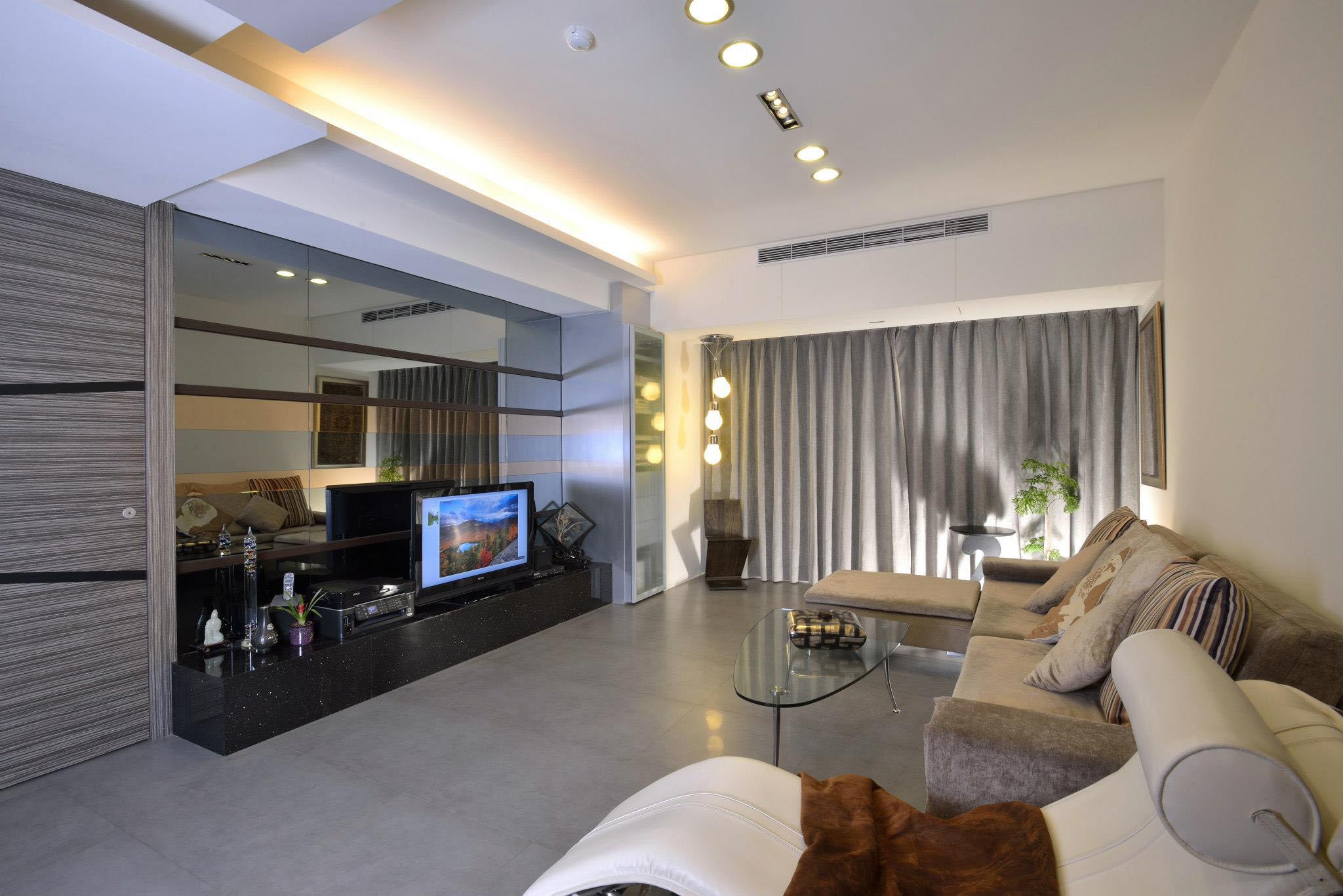 Reforma De Apartamento Com 200 M Em Taiwan Vidrado -> Sala De Estar Apartamento Decoracao