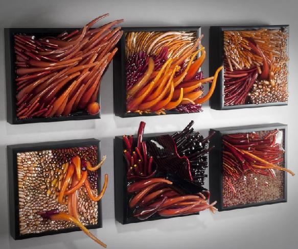 corais-e-anemonas-escultura-de-parede-em-vidro